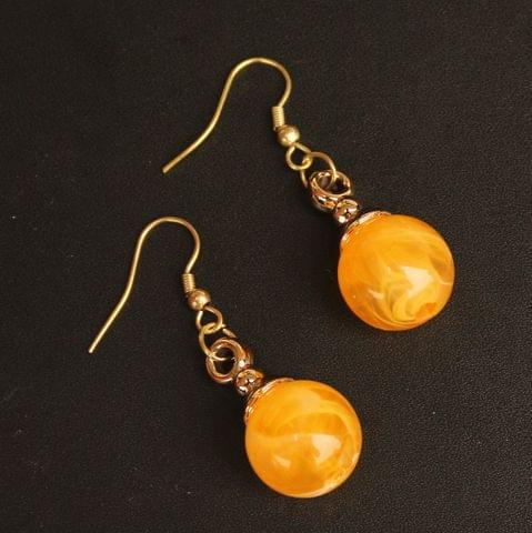 Light Weight Dangler Earrings Yellow