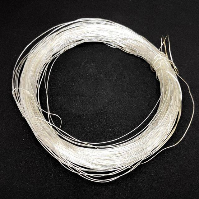Silver Brass metal wire jewellery making 100 gm roll Soft