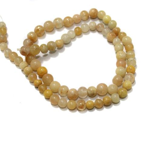 Golden Gemstone Beads, Size 05-07 mm, Pack Of 1 String