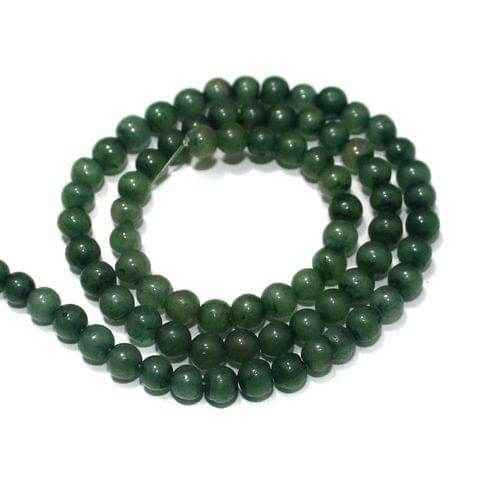 Green DIY Gemstone Beads, Size 05-07mm, Pack Of 1 String