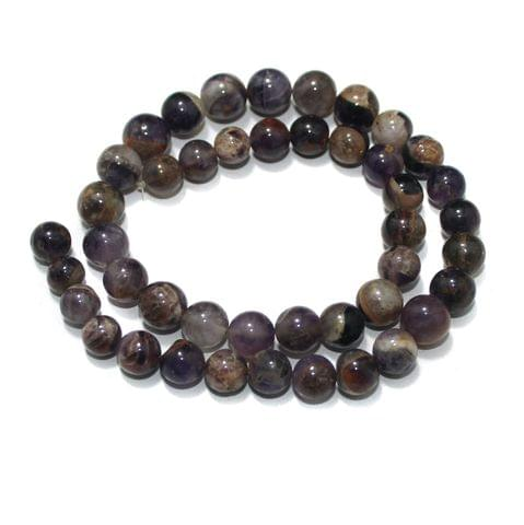 Amethyst Gemstone Beads, Size 09-10 mm, Pack Of 1 String