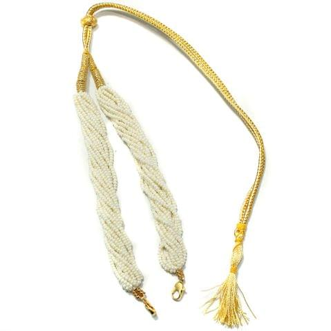 Seed Beads Pendant Dori White, Pack Of 1 Pc