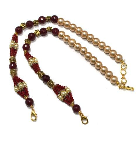 Designer Crystal Faceted Beaded Necklace Dori Red, Pack Of 1 Pc