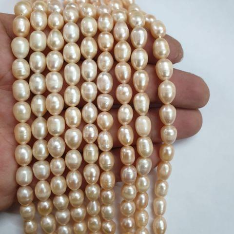 AAA freshwater baroque pearl irregular strand, 42+ beads in each strand, 14-15 inch, 1 line, 6x9mm