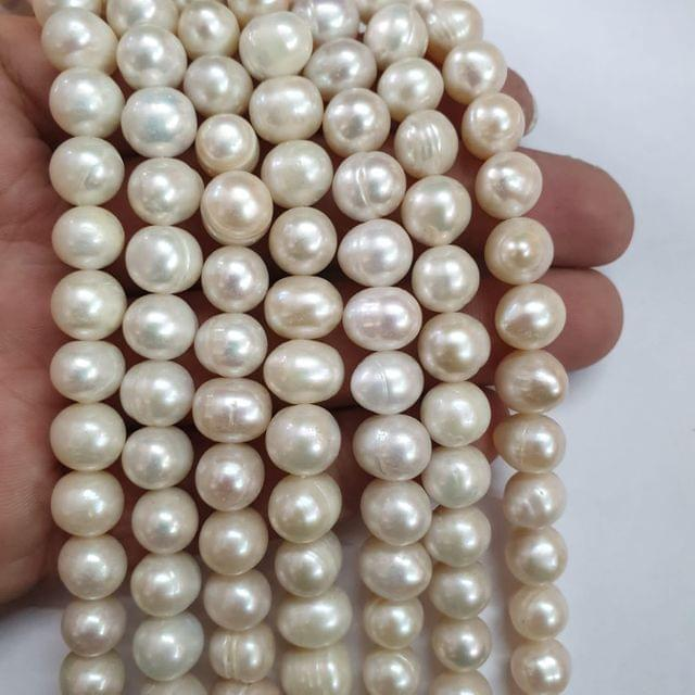 AAA freshwater baroque pearl irregular strand, 43+ beads in each strand, 15-16 inch, 1 line, 9x10mm