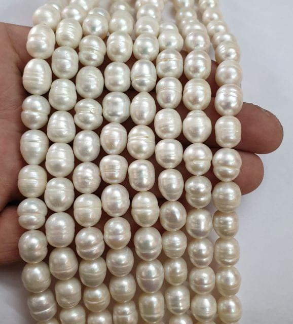 AAA freshwater baroque pearl irregular strand, 33+ beads in each strand, 15-16 inch, 1 line, 9x11mm