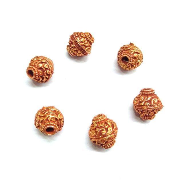 Designing Geru Polish Beads For Jewellery Making, 10pcs, 12mm