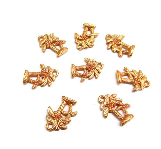 Geru Polish Tree Beads For Jewellery Making, 10pcs, 19mm