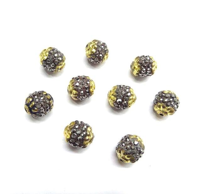 Antique Lotus Cap Beads for Jewellery Making, 9pcs,12x12mm