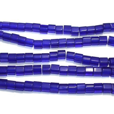 Tyre Glass Beads Blue 8 mm, Pack Of 5 Strings