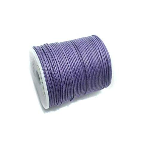 100 Mtrs Jewellery Making Cotton Cord Purple 1mm