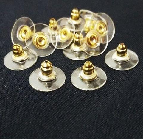Earrings Back Stopper Earnuts Stud Golden, Pack of 100 Pcs