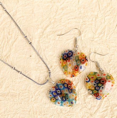 Milifiori Multi Heart Pendant Set