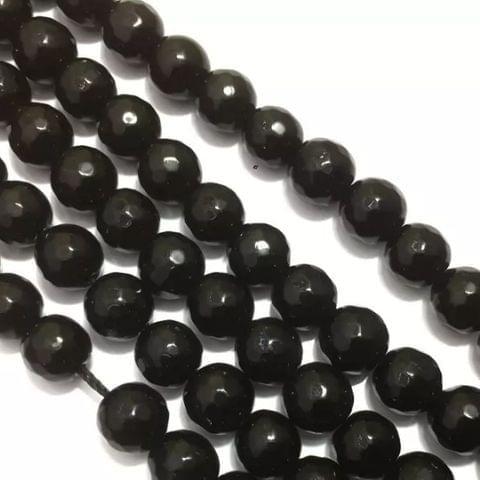 Black Agete Beads 4MM, 2 Strings