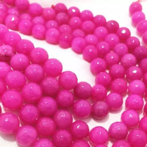 Rani Pink Agete Beads 4MM, 2 Strings