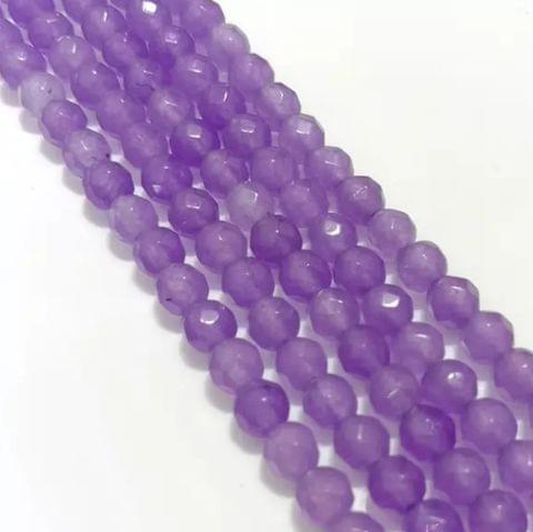 Purple Agete Beads 4MM, 2 Strings