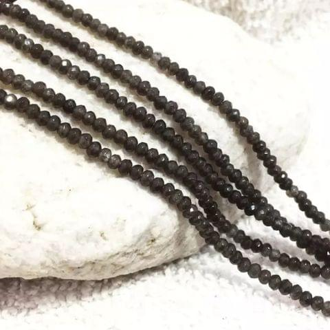Rondelle Facated Agete Beads 3mm, 2 Strings