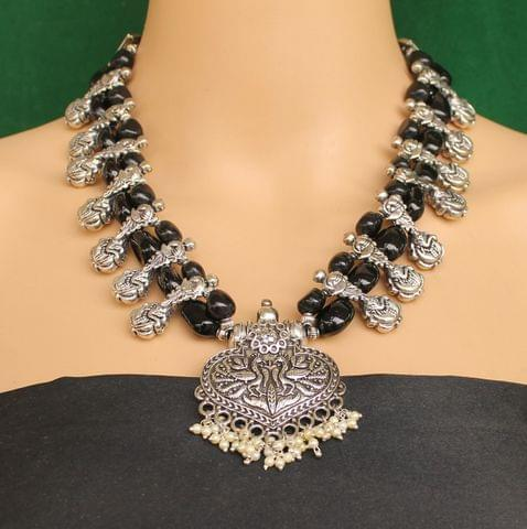 Ethnic Black Oxidised Handmade Necklace