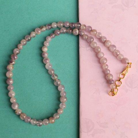 Amethyst Light Gemstone Necklace