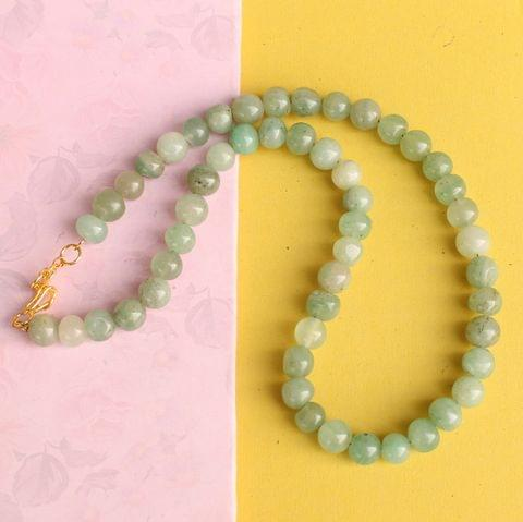 Light Green Gemstone Necklace
