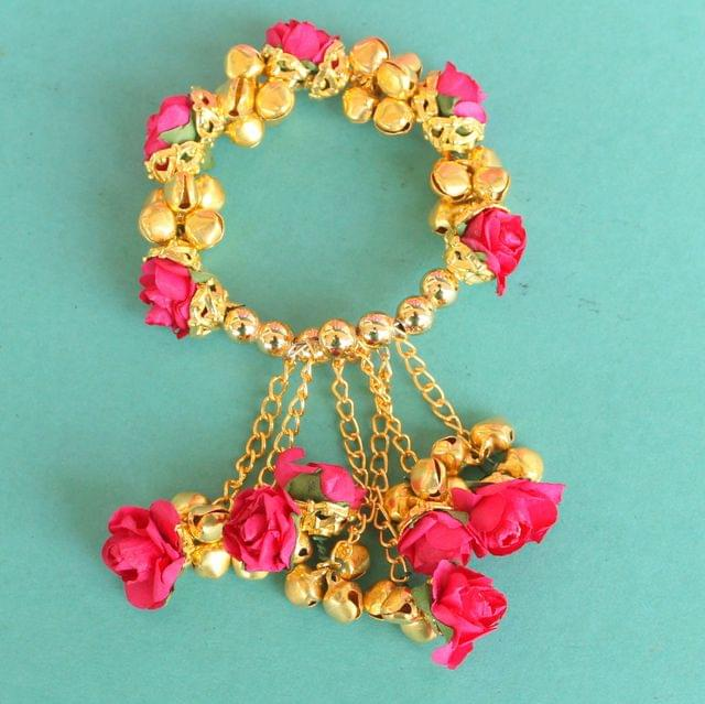 Anandi Flower Bracelets Magenta