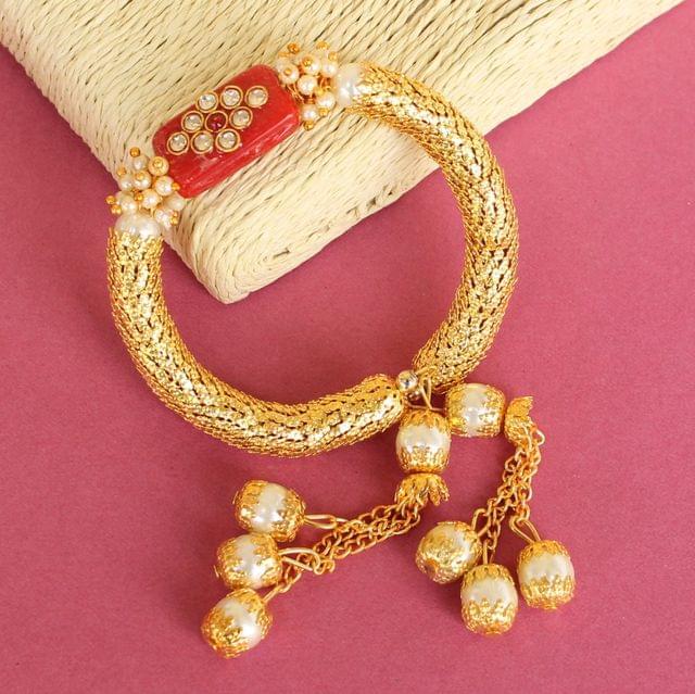 Red Ranita Kundan Bracelet