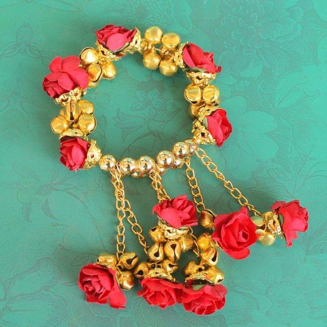 Anandi Flower Bracelet Red