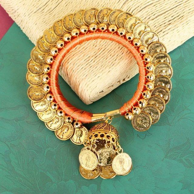 Suvali Silk Thread Coin Bracelet