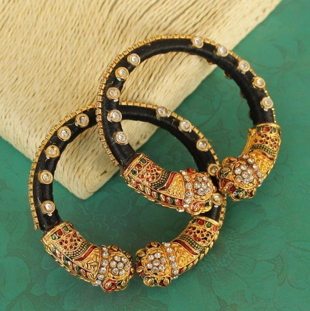 Silk Thread Meenakari Bracelet Set