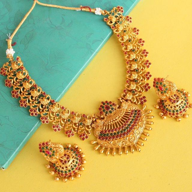 Sanskriti Temple Necklace Set