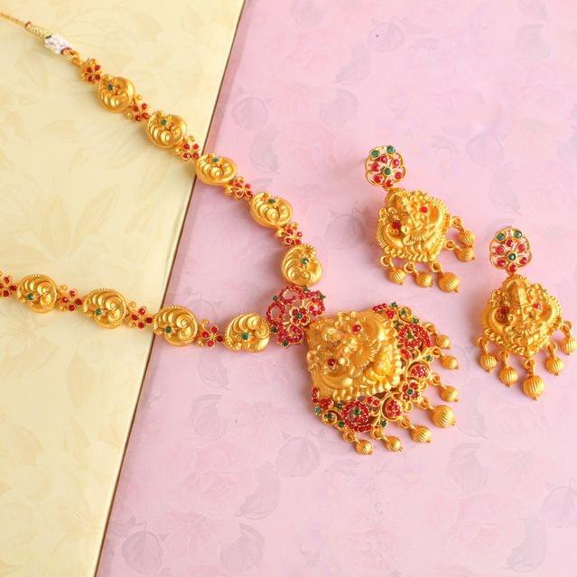 Sanskriti Temple Necklace Set