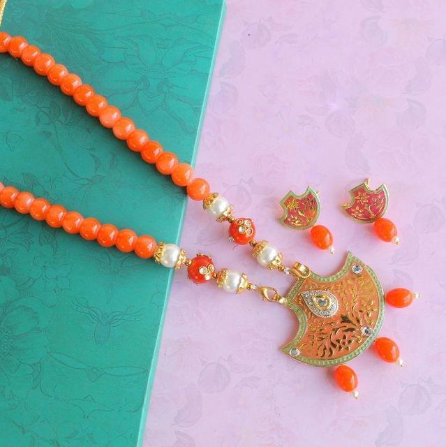 Meenakari Necklace Set