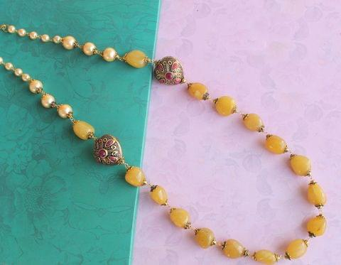 Tumbled Gemstone Necklace