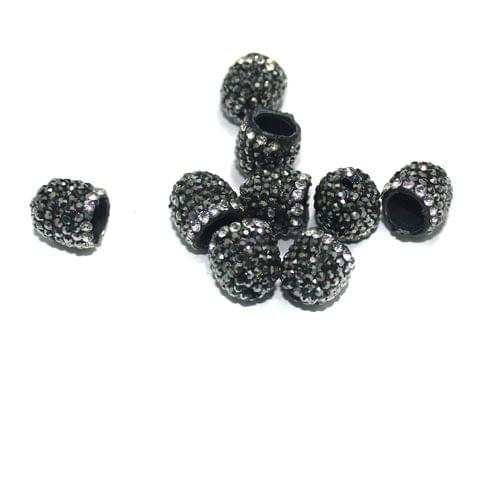 10 Pcs CZ Beads Caps, Size 10 mm