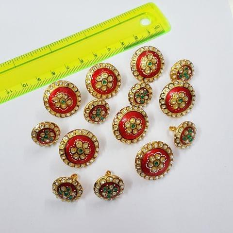 Designer Handcufflinks, Buttons, 22mm 16mm, 14pcs set