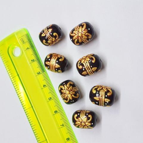 Coca Cola Color Handpainted High quality Spacer beads, 12x15mm, 5pcs