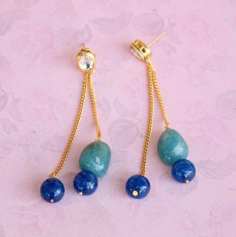 Preet Gemstone Beaded Earrings