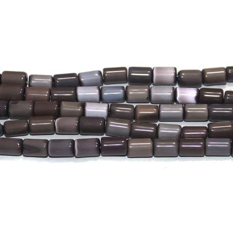 5 Strings Cat's Eye Tyre Beads Purple 10x6 mm