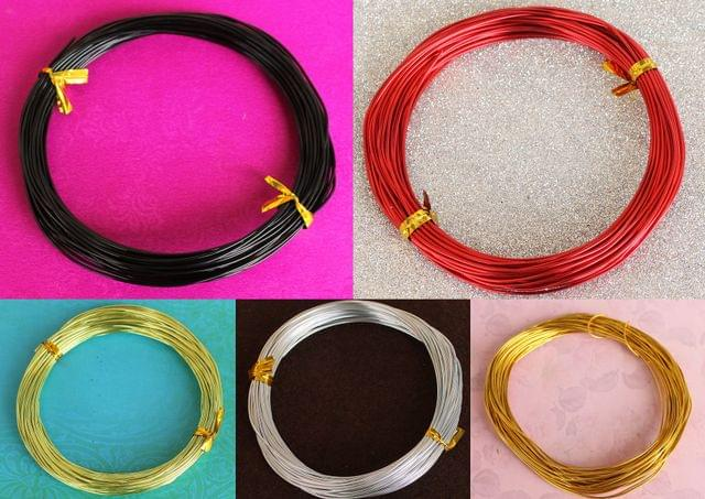 Aluminium Colored Wire Combo 1mm(18 Gauge)