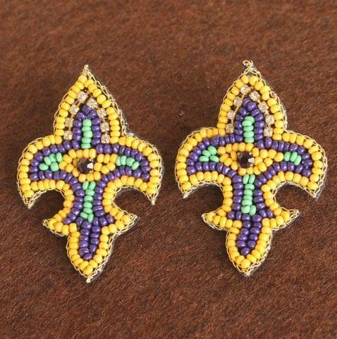 Fleurdelise Yello Earrings