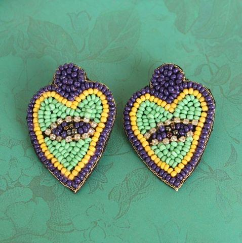 Beading Heart Earring