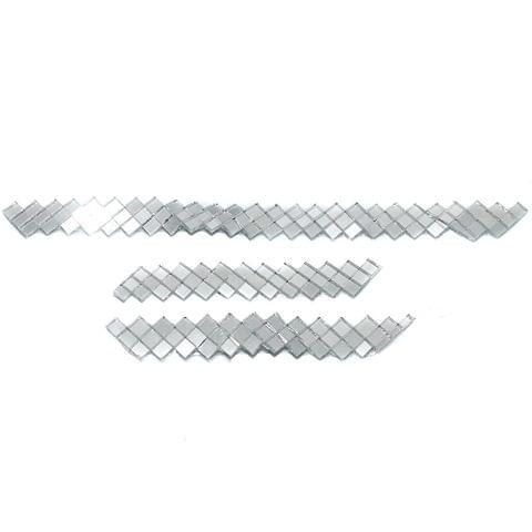 50 Gms Glass Mirror Beads Zig Zag Strips 10mm