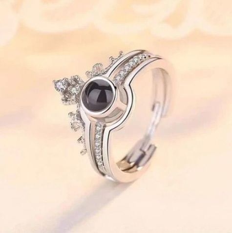 I Love You' in 100 Different Languages Ring Silver