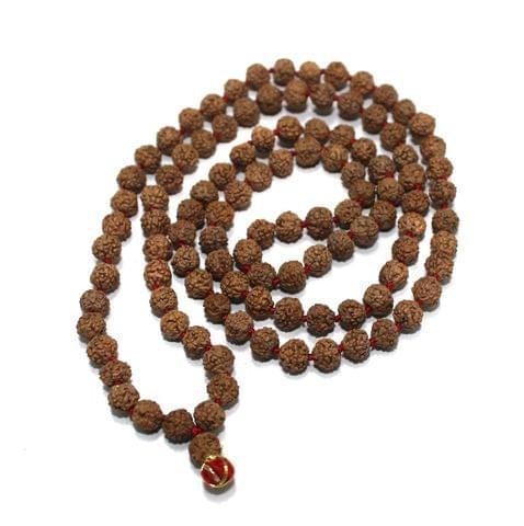 109 Beads Wooden Rudraksh Beads Mala 6mm