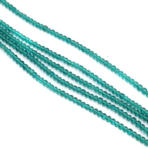 5 Strings Glass Round Beads 3mm Turquoise