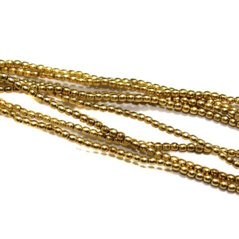 10 Strings Brass Metal Balls 2mm Golden