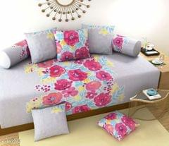 Printed Polycotton Diwan Sets - Sets of 8