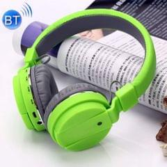 Wireless & Bluetooth Headphone with FM and SD Card Slot with Music and Calling Controls (Green)