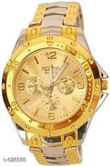 Analouge Golden Dial Men's Watch