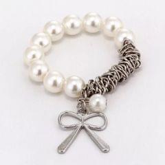 Popmode Elegant Pearl Charm Bracelet